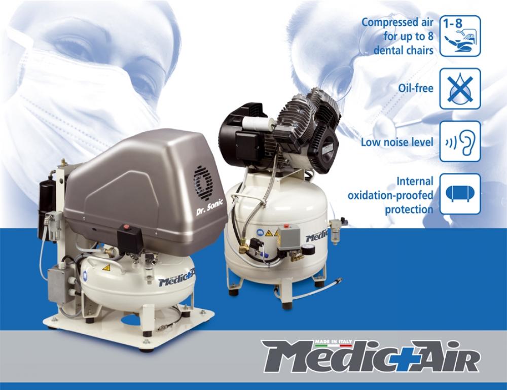 Oil-free MedicAir compressors